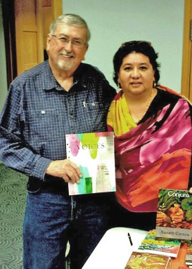 Roy Beckemeyer and Xanath Caraza at Topeka Public Library Authors Day