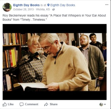 Roy reading October 28 2013 at Eighth Day Books 25th Anniversary.jpg
