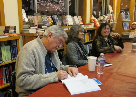 Roy with Victoria and Caryn at Watermark Books January 20 2013 Reading