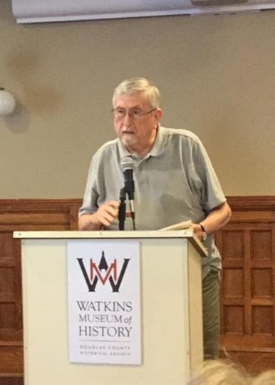 Roy at Kansas Time+Place Reading JUly 28 2018 Watkins History Museum Lawrence KS