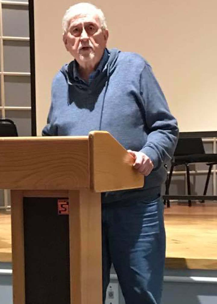 Roy Beckemeyer speaking at Chikaskia 2019 photo by Joey Brown