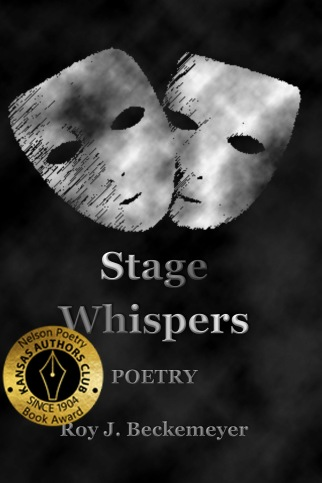 Stage Whispers Front Cover with Nelson sticker